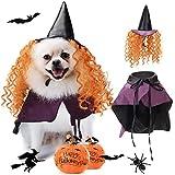 Legendog Disfraz de Halloween para Perro, Disfraz de Halloween para Mascotas, Incluye Sombrero, Capa, Lindo Disfraz para Perro
