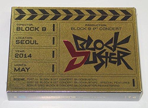 BLOCK B - Block B 1st Concert BLOCKBUSTER DVD [3 Discs + Photobook + Photocard + Folded Poster] + Extra Gift Photocards Set (B Blockbuster Block)