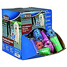 Trixie 22843 Dog Pick Up Display Poop Bags Medium 70 Rolls of 20 Assorted Colours