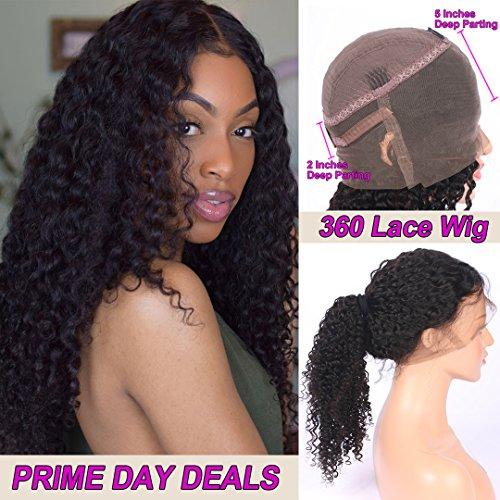 Profonda ricci capelli umani parrucche 360pizzo frontale parrucche con pre pizzicata natural hairline smhair brazilian remy hair 130% density