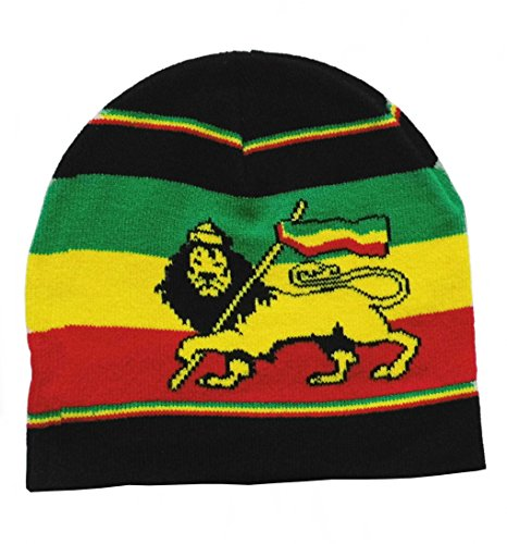Rasta Löwe Lion Beanie Mütze Strickmütze