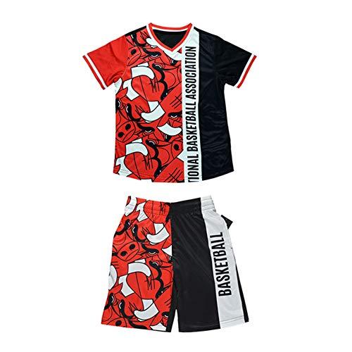 LJA Chicago Bulls Bedrucktes Kurzarmhemd Baggy T-Shirt