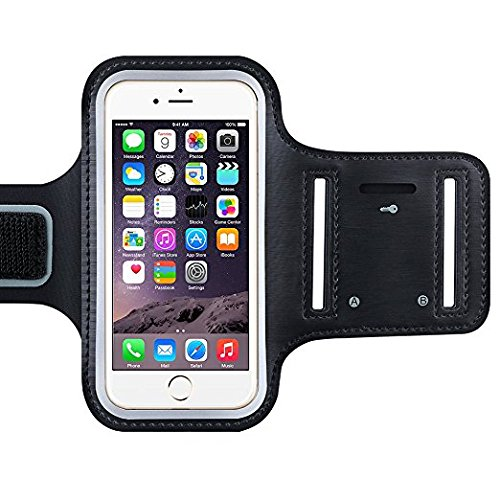 HOMMER Arm Band Case for Universal Waterproof Gym Sports Running Phone Pouch Case Cover Holder (Black)