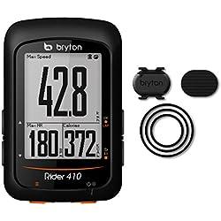 Bryton Rider 410C, Computer GPS Unisex–Adulto, Negro, M