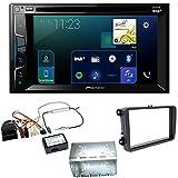 Pioneer AVH-Z3000DAB Digitalradio CarPlay Bluetooth USB DVD Touchscreen Moniceiver Einbauset für Tiguan Amarok Caddy Jetta