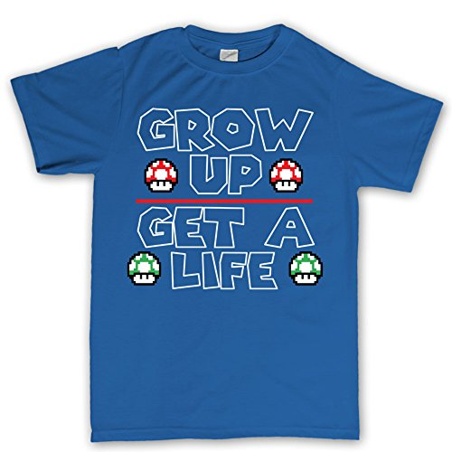 Grow Up Power Up Mushrooms Gaming Gamer T shirt