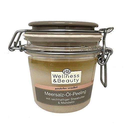 Wellness & Beauty Meersalzöl- Peeling mit reichhaltiger Sheabutter & Mandelöl 300g