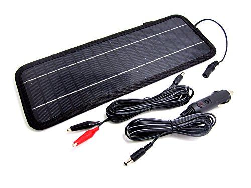 NUZAMAS Poartable 4.5W Solarpanel Ladegerät Power Auto 12V Batterie Outdoor Camping Reise-Stromquelle - Solar-power-auto-batterie-ladegerät