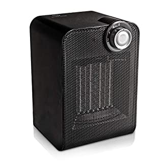 LIVIVO PTC Ceramic Portable Electric Heater with 2 Heat Settings 1800W- Oscillating Function Overheat Protection - Instant Heat and Cooling for Home or Office