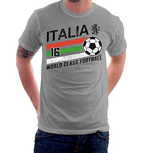 Euro 2016 Football Italy Italia Ball Grey Men\'s T-Shirt