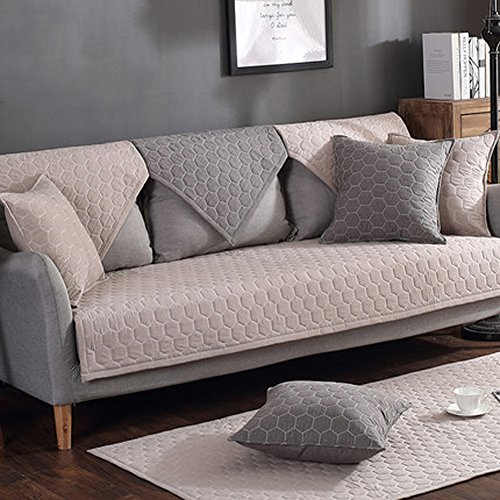J&SSSU Sofa deckt Anti Rutsch Schutzhülle Abdeckung Couchbezug Für 1 2 3 4 Sofa,1 stück-A 70x180cm(28x71inch) (Sofa 3 Stück Stuhl Loveseat)
