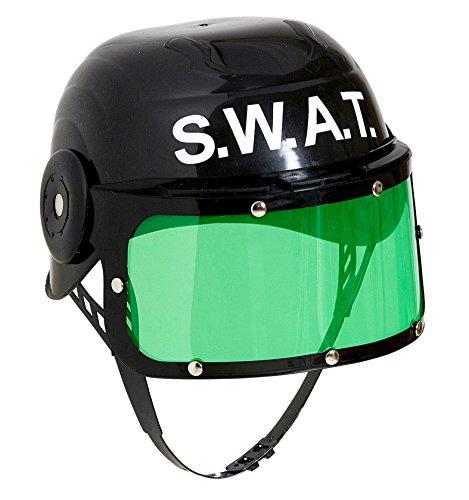 Widmann 28225?Casco para niños, diseño SWAT, Negro