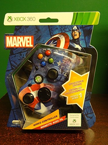 Rare Marvel Captain America Xbox 360 Collector 's Edition verkabelter Controller Series 1 - Communicator Usb