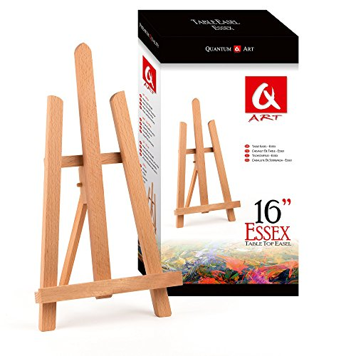 BEECH WOOD 390MM ARTIST TABLE TOP DISPLAY EASEL - BEST EUROPEAN QUALITY by Quantum Art Ltd