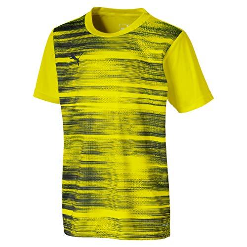 PUMA Jungen ftblNXT Graphic Shirt Core Jr Trikot, Yellow Alert/Grey Dawn, 140