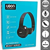Ubon Beast Series On-Ear Stereo Headphones With Mic, Power Full Bass And Crystal Clear Sound,Folding Headphone With Detachable Aux Cable For Iphone, All Android Smartphones, Pc, Laptop, Mp3/Mp4, Tablet Macbook By Singh Brothers