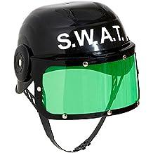 Widmann 28225–Niños Casco SWAT, Negro