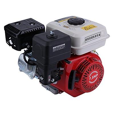 Blackpoolal 7,5 PS 4-Takt Benzin Motor Standmotor Benzinmotor Bootsmotor Kartmotor 4,8 kW 1 Zylinder 20mm