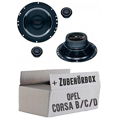 Opel Corsa B/C/D - Lautsprecher Boxen Mac-Audio Street 2.16-16cm System Auto Einbausatz - Einbauset