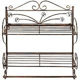 HLC® Toallero barra metálico estante ria de baño soporte 50 x 45 x 18 cm,color bronce