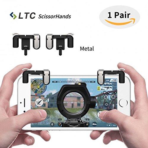 """LTC """"Scissorhands"""" Trigger M2 für Mobile Game, Metall Buttons, Emfindlich Schießen und Zielen Sowie L1R1 von Mobile Game Joysticks für PUBG, Geeignet für Android Oder IOS Smartphone (Schwarz)"""