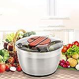Große Salatschleuder - Salattrockner, Schnell Trocken Aktion, Rutschfeste Basis, Geschirrspüler Safe Schüssel Mit Sieb & Push Handle Lever