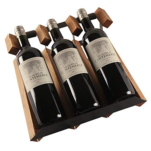 Weinregal-Verkaufsregal 3-Tier Stapelbare Wein Rack- Weinregale for Flaschen Perfekt for Bar Weinkeller Keller Cabinet Pantry (Farbe : Braun, Größe : 32x13x30cm)