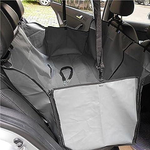 Minidiva Plegable Resistente al agua cubierta de asiento de la hamaca Seguridad Perro de coches para Mascotas (Gris)