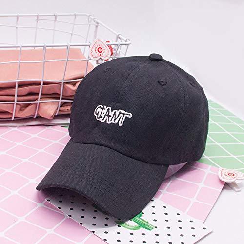 zlhcich Hut weiblich lässig Wilde Straße Stickerei Sommer Visier Baseball Cap schwarz einstellbar (Mädchen Blaue Polizei Offizier Kostüm)
