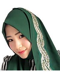 KINDOYO Mujeres Lady Moda Hermoso Color sólido musulmán islámico largo Hijab Fular Bufanda Pañuelo para la cabeza, 11 colores