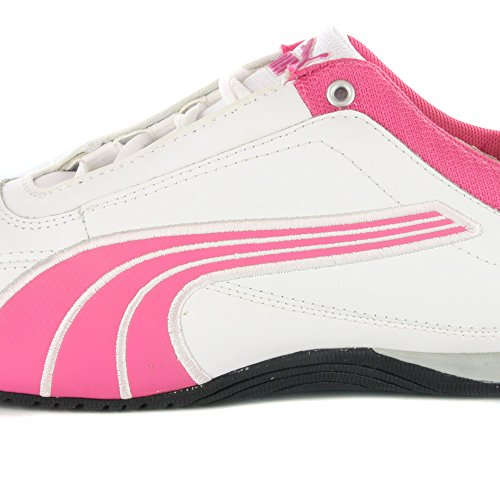 PUMA 302185 04 Drift Cat II L Jr, Unisex - Kinder Sneaker White / Pink