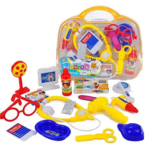 Dzy infermiere set 15 pezzi di ruolo giocando infermiera kit scatola medica con stetoscopio e finta accessori giocattolo