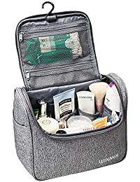 KYG Neceser para Colgar Bolsas de Aseo Impermeable y Resistente Neceser de Viaje con Compartimento Separable para Hogar Vacaciones Viaje de Negocios Equipaje
