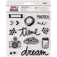 APLI Kids 14543constelación temáticas de sellos de acrílico (Pack de 14)