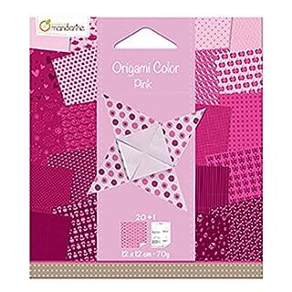 Avenue Mandarine Origami Colour, Pink, 12 x 12 cm, 70 gsm