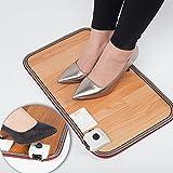 Fußheizung, elektrisch, Fußbodenwärmer, Heizmatte für heiße Fußkissen, Temperatureinstellbar, schnelle Erwärmung unter dem Schreibtisch zu Hause oder im Büro