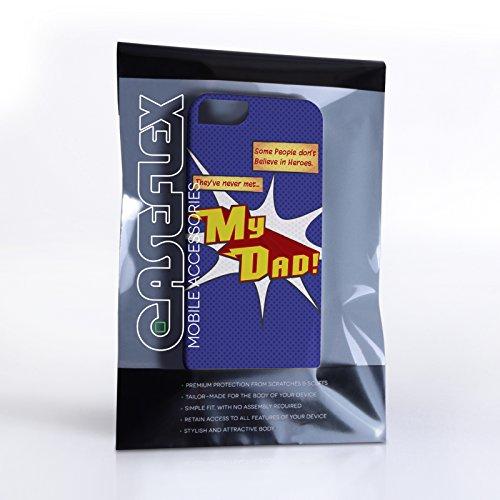 Caseflex iPhone 5 Coque Rigide Bleu Dessin Animé Mon Papa Le Héro