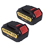 FLAGPOWER 4.0Ah 18V Li-ion Tools Battery for DeWalt DCB184 DCB182 DCB183-XJ DCB204-2 DCB205-2 Battery Power Tools Max Premium XR Battery Pack ( 2 Packs)