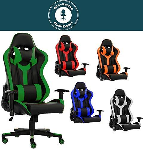 SPS-Racing King Bürostuhl Chefsessel Drehstuhl Schreibtischstuhl Gaming Zocker Stuhl Office Chair (schwarz/grün)