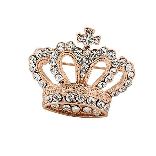 Boho Victoria Koenig Koenigin Krone Kristall Brosche Gold Hochzeit (Und König Königin Kronen)