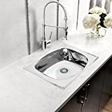 Klaxon Kitchen Sink - Stainless Steel Sink for Kitchen, SAMSON Medium Size 24 in X 18 in - Glossy Finish Single Bowl, 202 Grade Stainless Steel