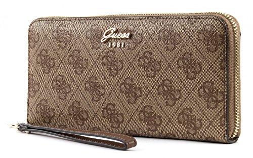 Guess Geldbörse - Jacqui - Large Zip Around - Brown (Braun Guess Brieftasche)
