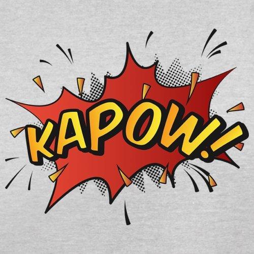 Superheld Kapow - Herren T-Shirt - 13 Farben Hellgrau
