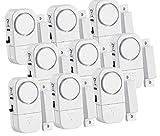 VisorTech Fenstersicherung: 9er-Set Mini-Tür- und Fensteralarme, 95 db, 2 Jahre Batterielaufzeit (Alarmanlagen)