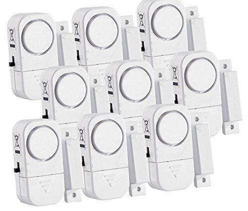 VisorTech Fenstersicherung: 9er-Set Mini-Tür- und Fensteralarme, 95 db, 2 Jahre Batterielaufzeit (Tür Fenster Alarm)