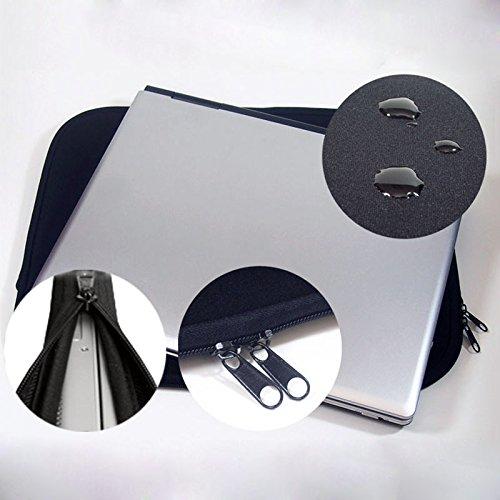 Preisvergleich Produktbild Neopren Schutzhülle Universal Laptoptasche Notebooktasche Neoprenhülle für Notebook (17,1-Zoll) & MacBook (17 Zoll) schwarz