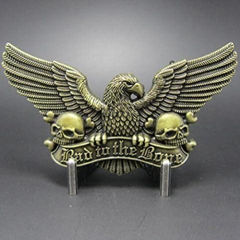 Buckle Bad to the Bone, Eagle & Skulls, aquila, fibbia