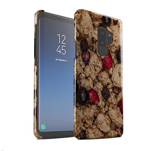 Kleie-müsli (Stuff4® Glanz Snap-On Hülle/Case für Samsung Galaxy S9 Plus/G965 / Müsli/Beeren Muster/Getreide Kollektion)