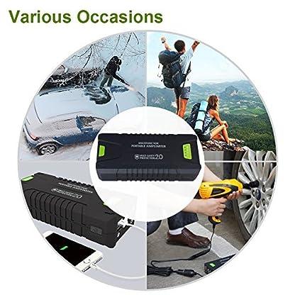 51Iu6yhlhxL. SS416  - Dr.Auto - Arrancador de Coches 1000A, 20000mAh, Jump Starter Portatil 12V Baterías Soporte Vehículo de Gasolina