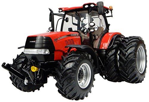 Universal Hobbies - UH4933 - Tracteur Case IH Puma 240 CVX Roues Jumelées - Echelle 1/32 - Rouge